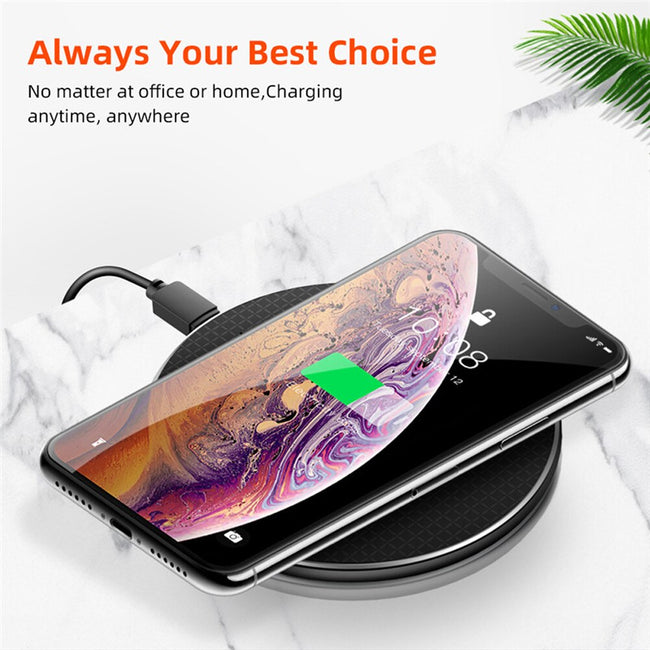 10W QI Wireless Charger Charging Induction USB Charger for iPhone 11 Pro Max/ Samsung S10