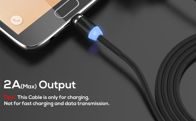 Magnetic Cable lighting 2.4A Fast Charge Micro USB Cable Type C