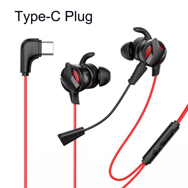 Baseus In-Ear Earphone 3.5mm Jack Type C Wired Headset for PUBG Gamer Gaming Headphone