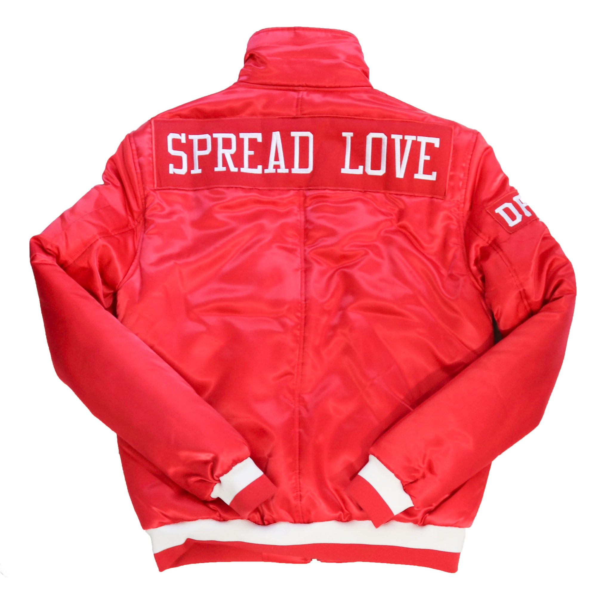 Spread Love Bomber Jacket - Red/ Black