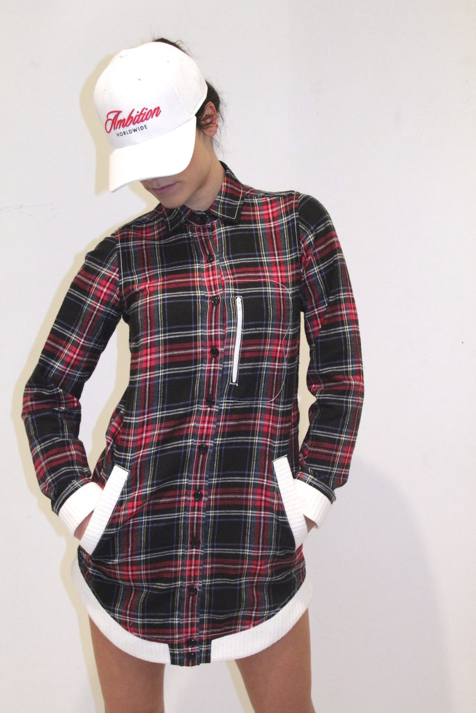 The Plaid Shacket Dress
