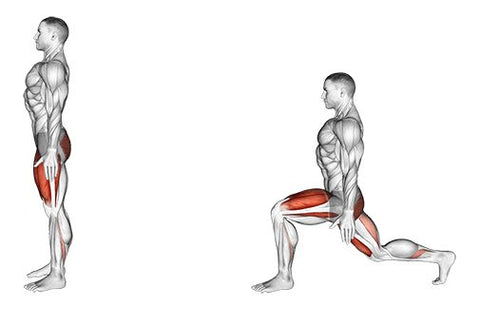Bodyweight rear lunge - Haryzona