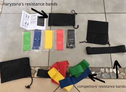 Haryzona's Resistance Bands Vs Competitors' Bands