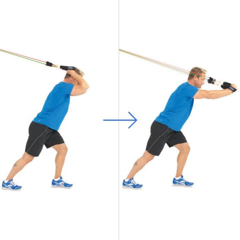 Triceps Workout Resistance Bands - Overhead Triceps Extension - Haryzona