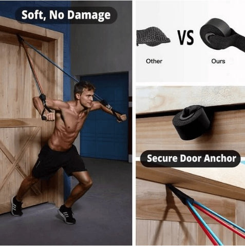 Resistance Bands with Handles and Door Anchor