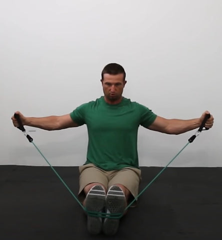 Back exercises with resistance bands - Reverse Flyes
