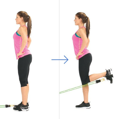 Standing Hamstrings Curl With Bands - Haryzona