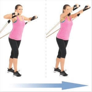 Standing Chest Development Resistance Bands Haryzona