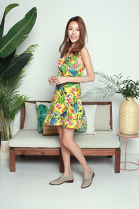Colourful Leaves Short Dress