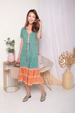 Load image into Gallery viewer, Bohemian Turquoise Dress