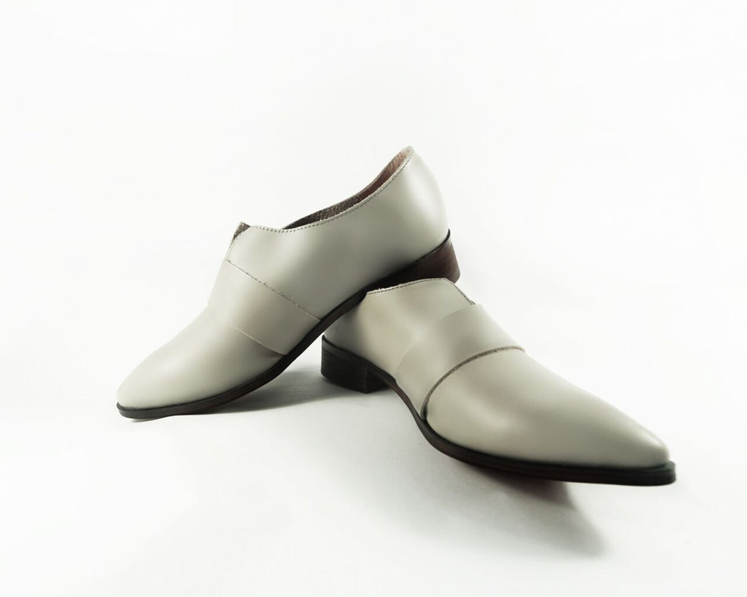 Leather Pointed Slip-On Shoes