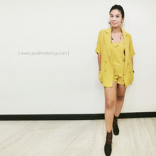 Load image into Gallery viewer, Blazer-Shorts Set (Yellow)