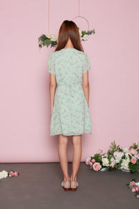 Baby's Breath Teal Short Dress