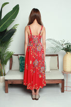 Load image into Gallery viewer, Batik Print Red Dress