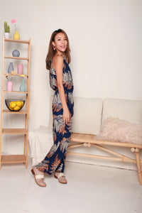 Blue Halter Palm Springs Jumpsuit