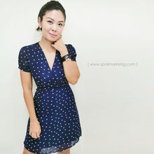 Load image into Gallery viewer, Falling Hearts Short Dress (Navy)