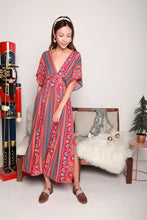 Load image into Gallery viewer, Bohemian Red Long Dress