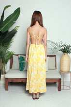 Load image into Gallery viewer, Yellow Leaves Long Dress