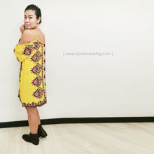 Load image into Gallery viewer, Off Shoulder Yellow Short Dress