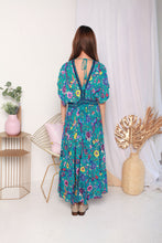 Load image into Gallery viewer, Bohemian Blue Long Dress