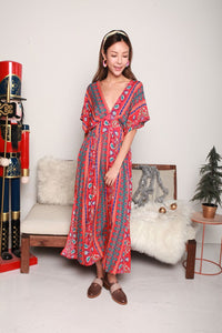 Bohemian Red Long Dress