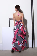 Load image into Gallery viewer, Neon Lines Maxi Dress