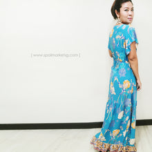 Load image into Gallery viewer, Turquoise Long Dress