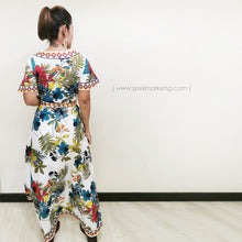 Load image into Gallery viewer, Boho Wrap Flower Dress (White)