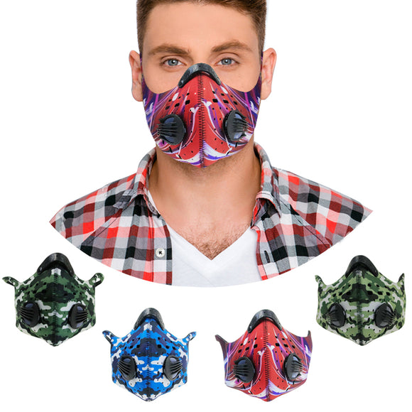 high quality material filter pm 25 pollution neoprene motorcycle face mask with design for biker