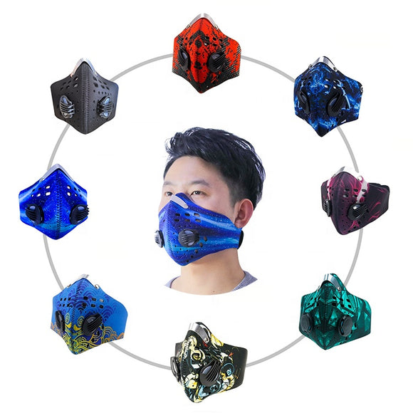 filter black bike anti pollution haze motorcycle half face custom mouth mask