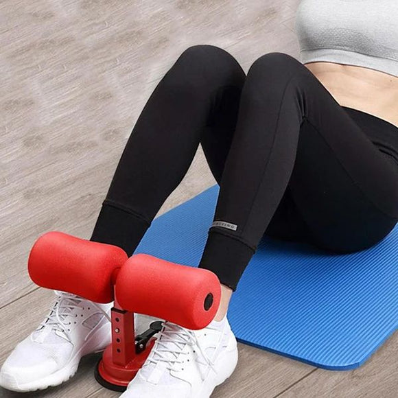 Abdominal machine sit-ups aid