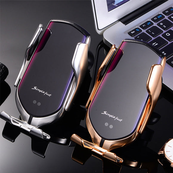 Phone Holder 10W Car Wireless Charger Charging Qi For Iphone For Samsung 2020 New Product Factory Wholesale R1 Car Charger