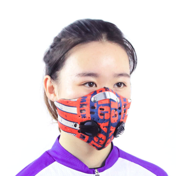 neoprene anti pollution motorcycle half face bicycle cycling dust proof smog mask