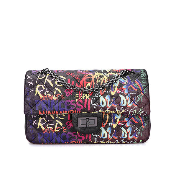 Fashion graffiti women's bag leisure luxury women's handbag women's bag handbag women's bag