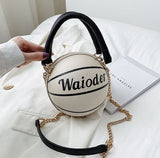 Creative basketball letters portable fashion satchel bag