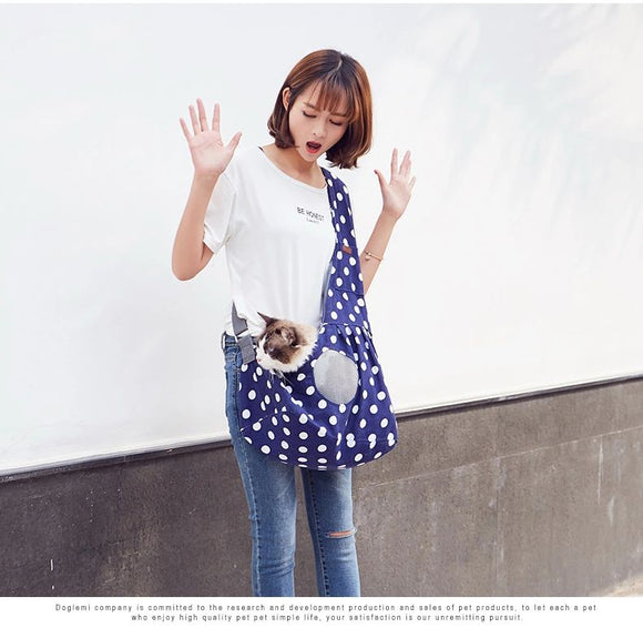 Pet Sling Carrier Shoulder Bag For Cats Pet Sling Bag