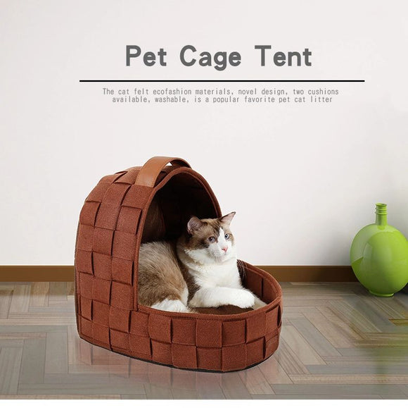 Nature Felt Wool Cat Cave House Dog Cave