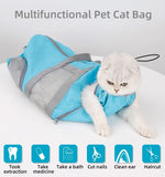 Hot sale cat grooming mesh restraint bag, cats nail cipping cleaning bag