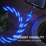 LED Magnetic 3 in 1 USB Charging Cable