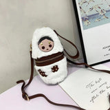 Autumn and winter new zero wallet cute Russian doll mini hand bill of lading shoulder bag mobile phone bag