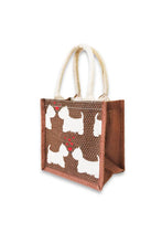 Load image into Gallery viewer, Sustainable Terrier Love Jute Bag