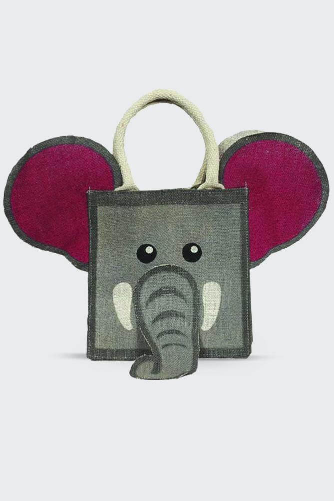 Animal Jute Bag - Elephant - Folk