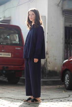 Load image into Gallery viewer, Midnight Blue Drawstring Trousers