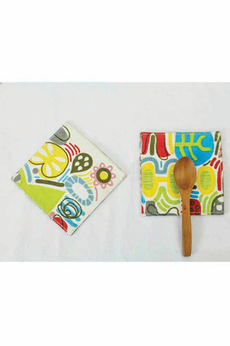 Folk Canvas Coasters