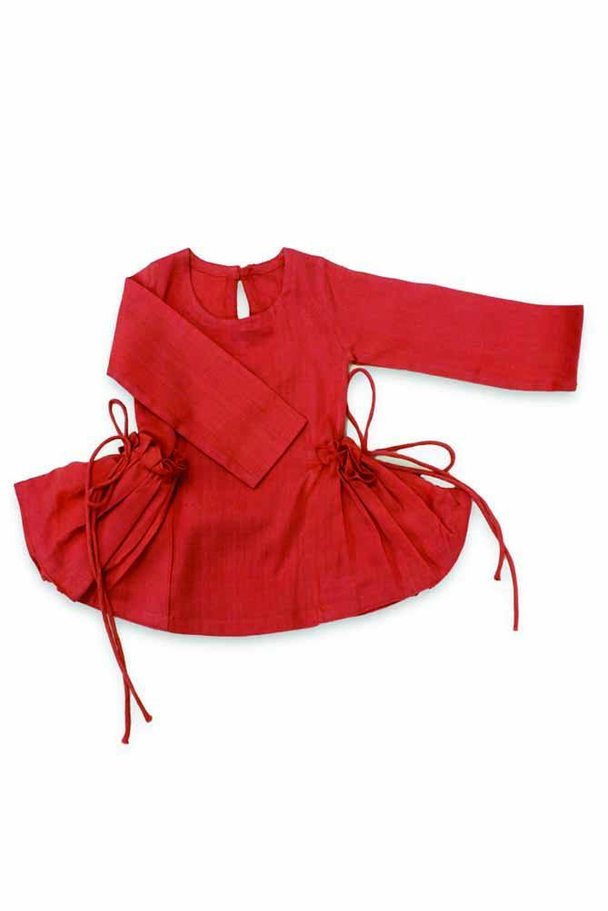 Baby Girl side tie-up pocket Dress