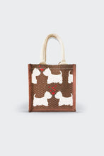 Load image into Gallery viewer, Terrier Love jute Lunch/Gift Bag