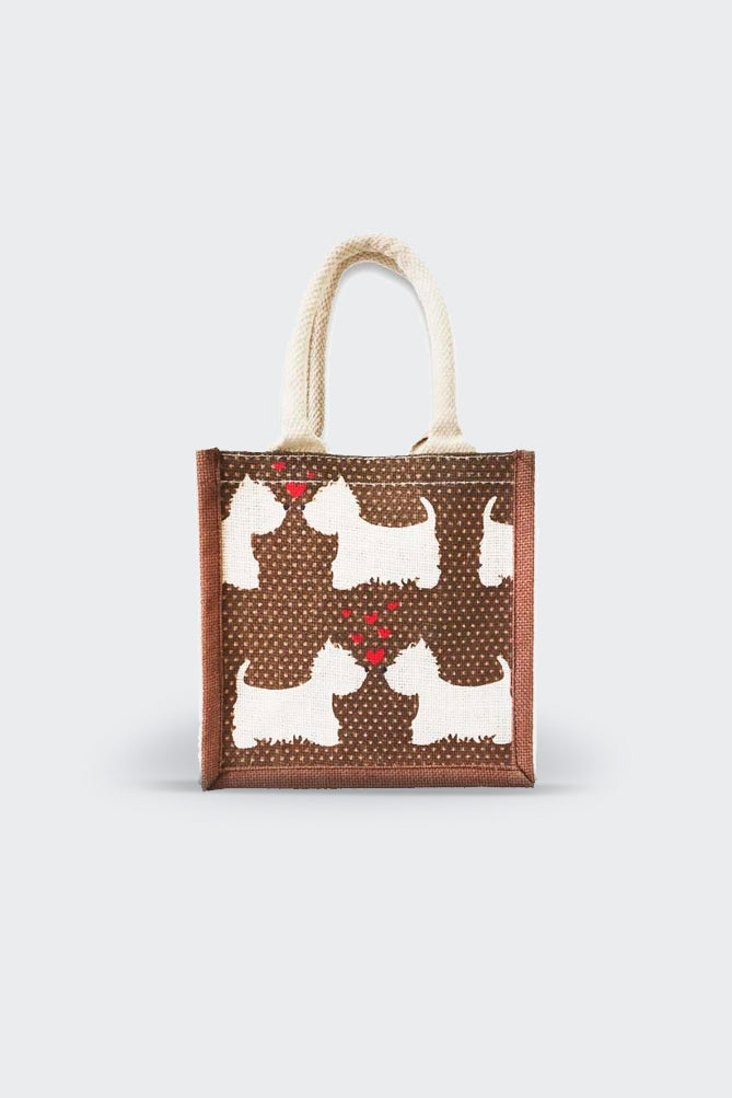 Terrier Love jute Lunch/Gift Bag