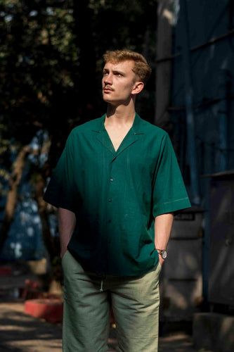Emerald Green Casual Shirt - Folk
