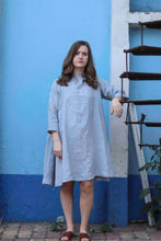 Load image into Gallery viewer, grey linen dress