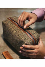 Load image into Gallery viewer, Folk Herringbone Toiletry Bag